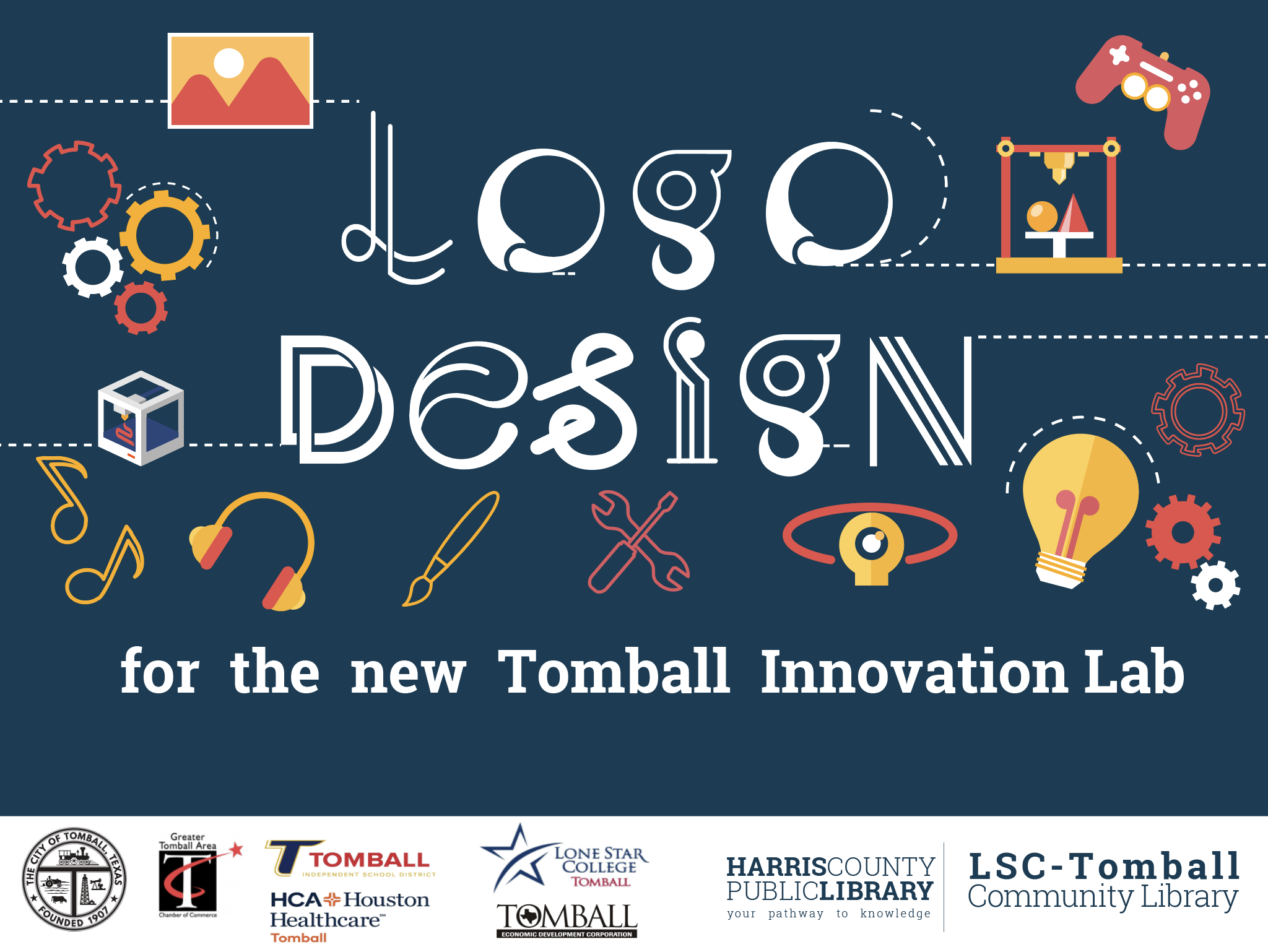Tomball Logo Design Contest Graphic with Partner Logo
