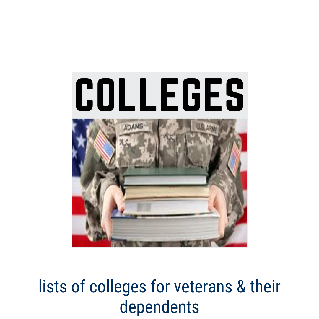 Lists of Colleges for Veterans & Dependents