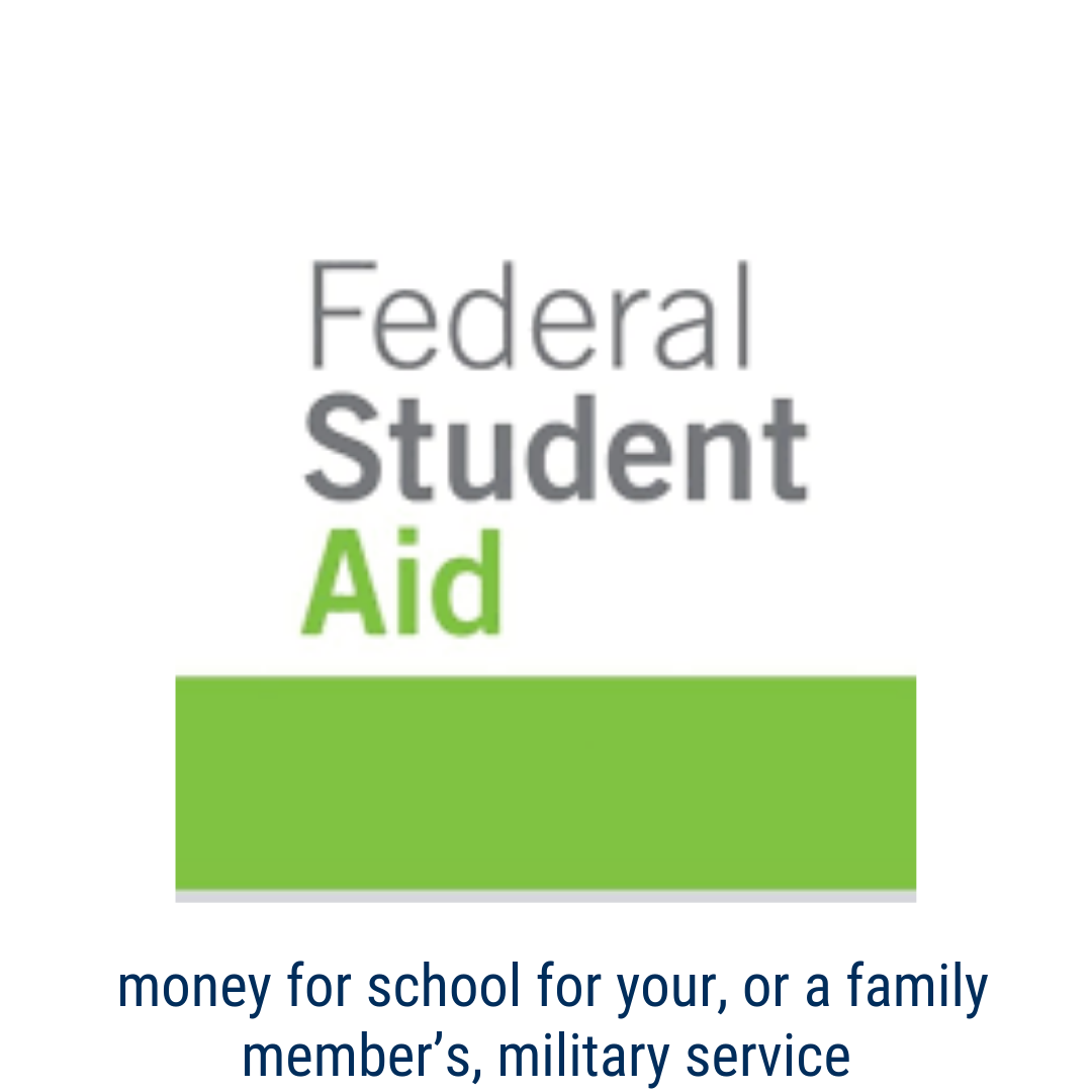 studentaid.gov - Get money for college or career school for your or your family member's military service.