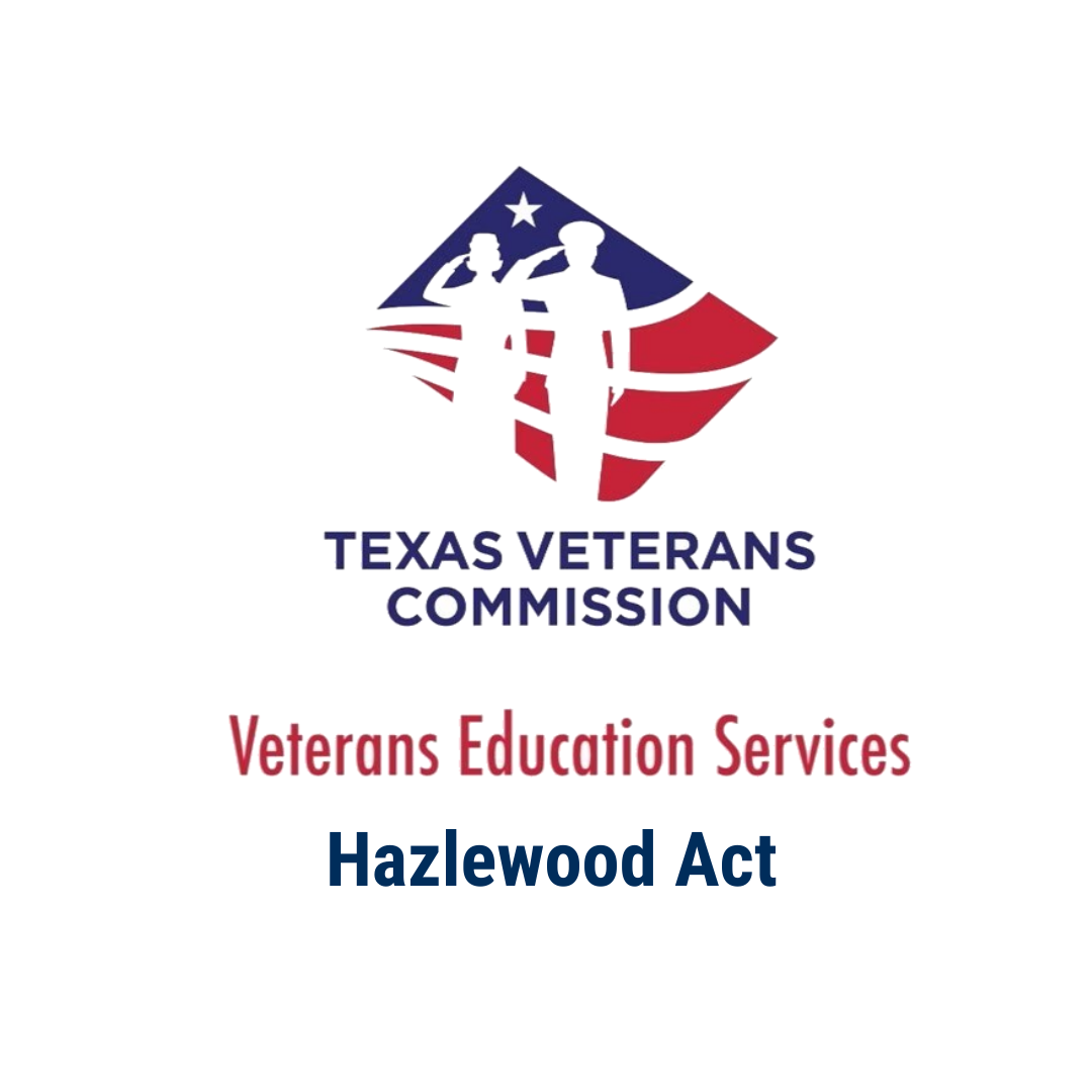 The Hazlewood Act is a State of Texas benefit that provides qualified Veterans, spouses, and dependent children with an education benefit of up to 150 hours of tuition exemption, including most fee charges, at public institutions of higher education in Texas. This does NOT include living expenses, books, or supply fees.