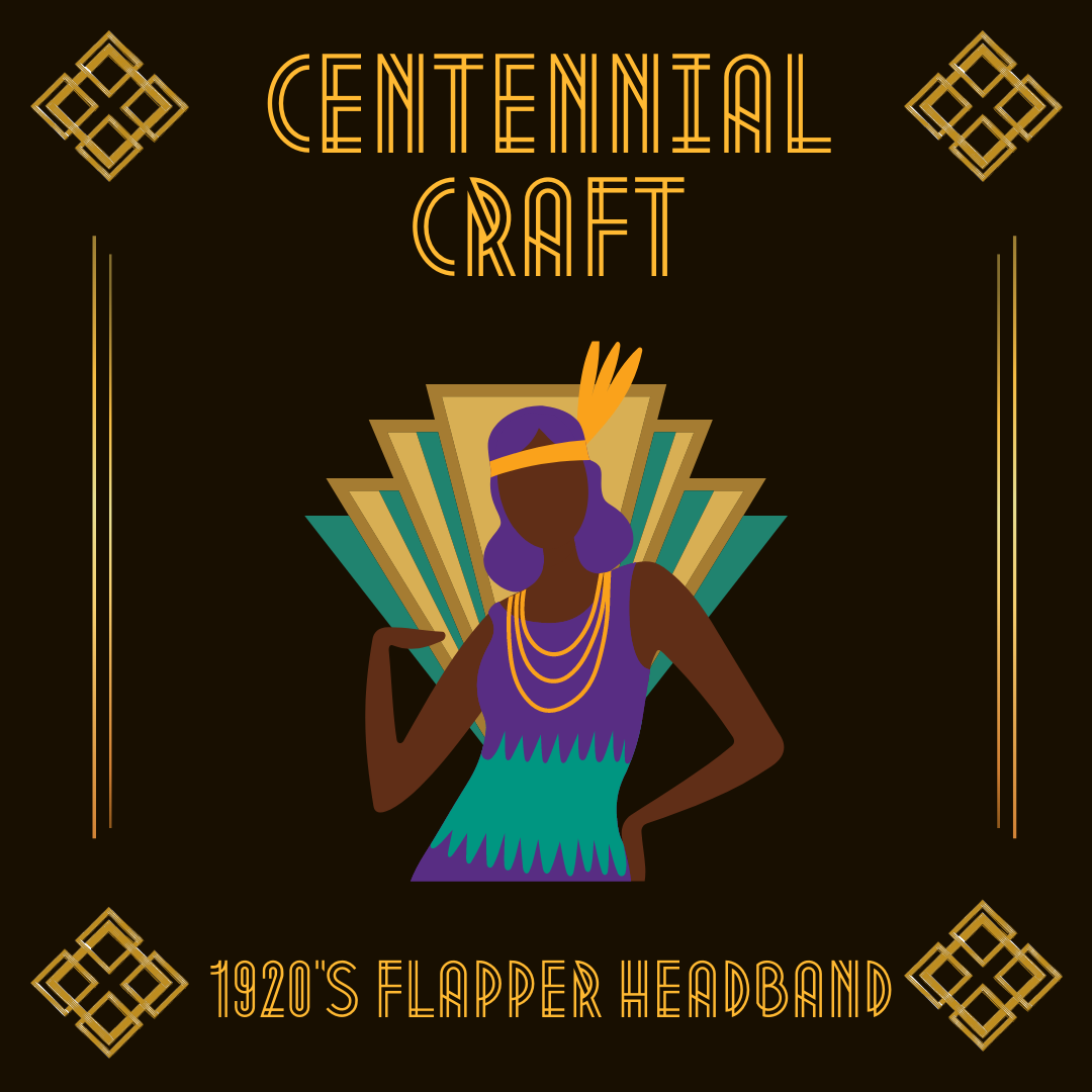 Flapper Headband Graphic - art deco