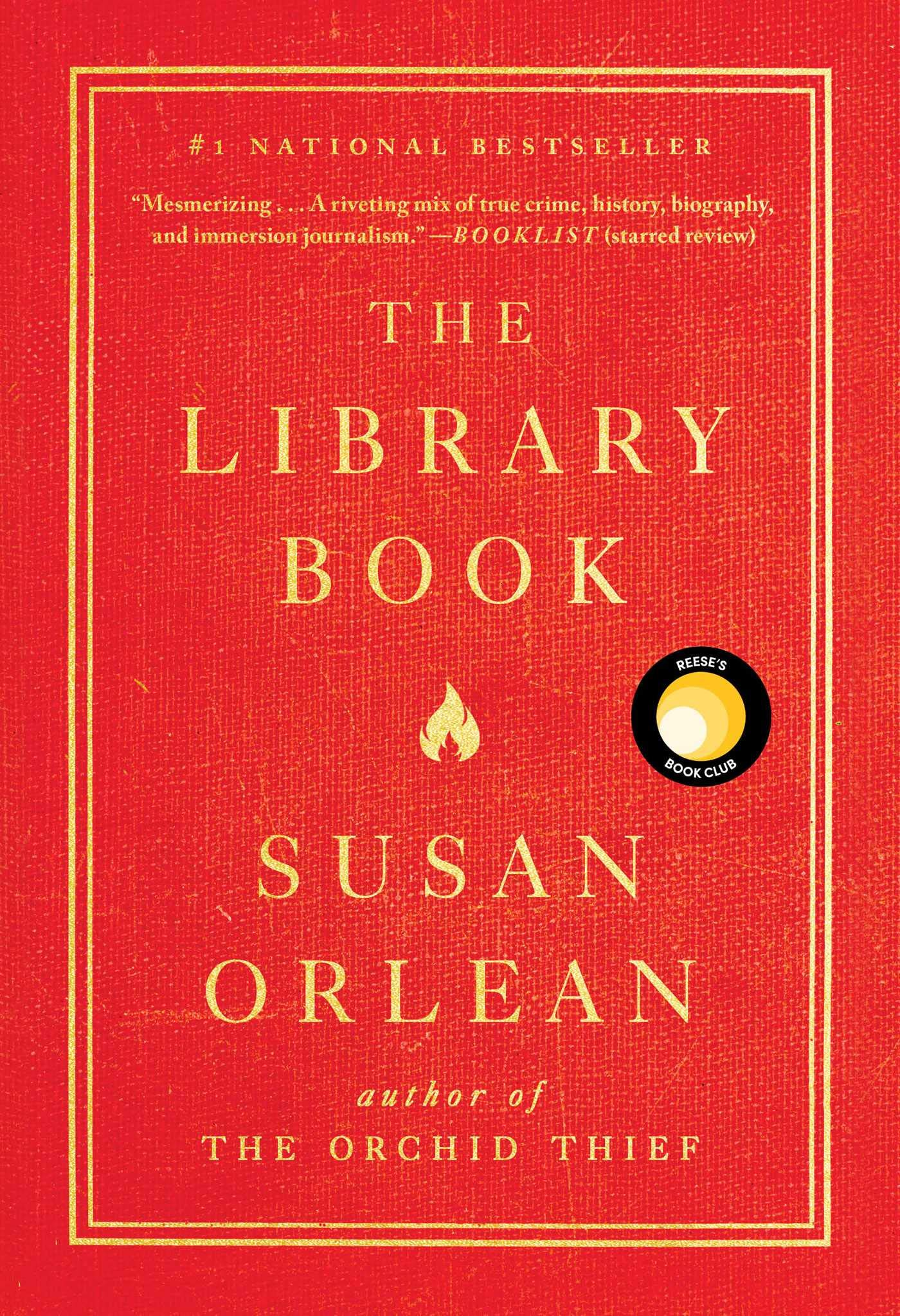 Book Cover - The library book by susan orlean