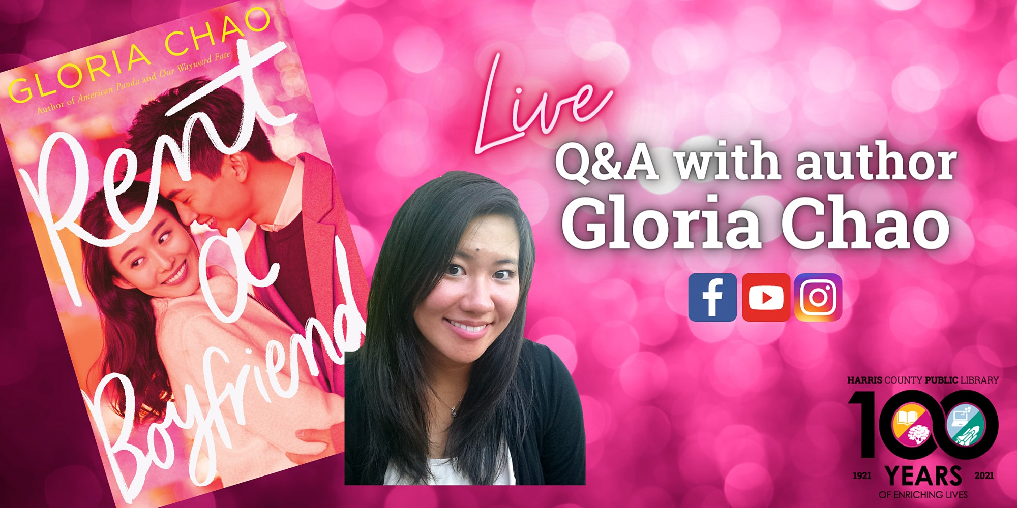 Live with YA Author Gloria Chao