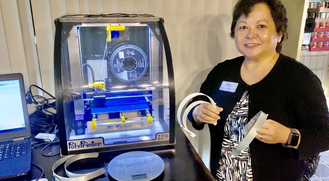 Seabrook library manager with 3d Printer