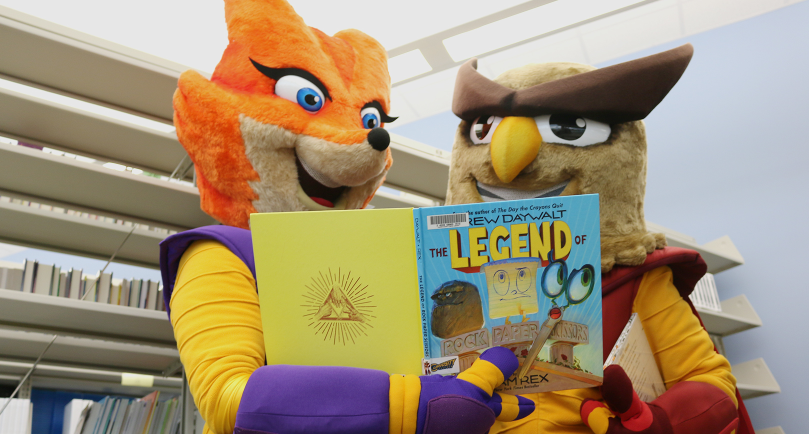 Cruiser Mascots with Books