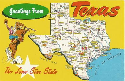 Postcard from the state of Texas