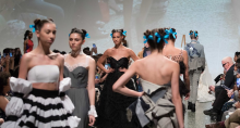 Models on the catwalk at 2019 Fashion Fusion Show at Museum of Fine Arts, Houston