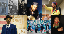 Collage of Feature Performers including Sam Dinkins III, Tommy Terrific, Deborah Mouton